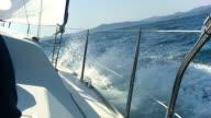 HD SLOW MOTION: Sailing Through Sea Waves video