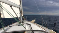 Sailing towards the horizon video