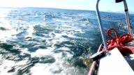 Sailing view over the stern 1080p HD video