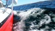 Sailing view towards the bow 1080p HD video