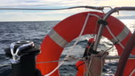 Sailing with rescue equipment video