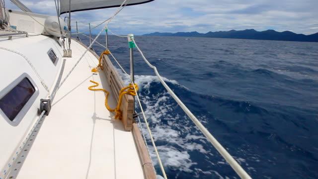 HD: Sailing with sailboat video