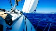 Sailing with sailboat video