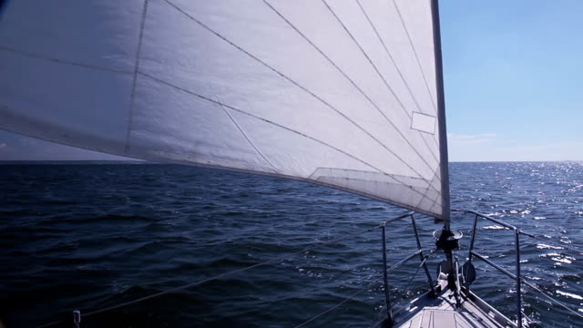 Sailing yacht. Genoa video