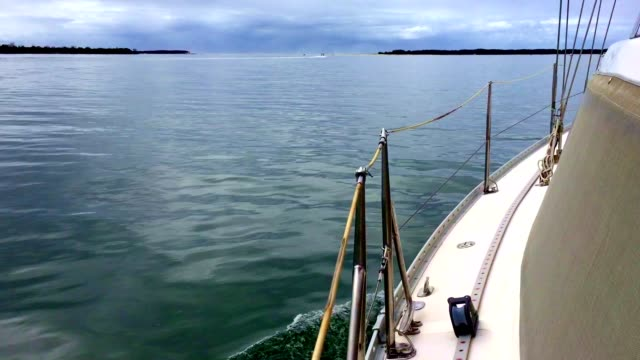 Sailing Yacht on Calm Water in South East Queensland Australia video