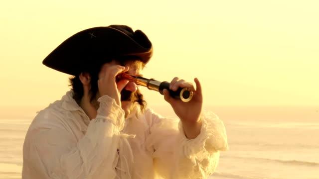 Sailor Looking Thru Spyglass (HD) video
