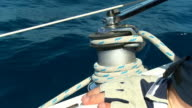 HD SLOW MOTION: Sailor Turning The Winch video