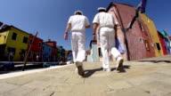 HD SUPER SLOW-MO: Sailors Walking In Venice video