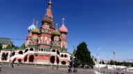 Saint Basil's Cathedral and Upper Trading Rows on Red Square, tracking shot video