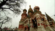 Saint Basils Cathedral in Kremlin on the Red Square Moscow video