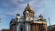 Saint Isaac's Cathedral morning motion timelapse video