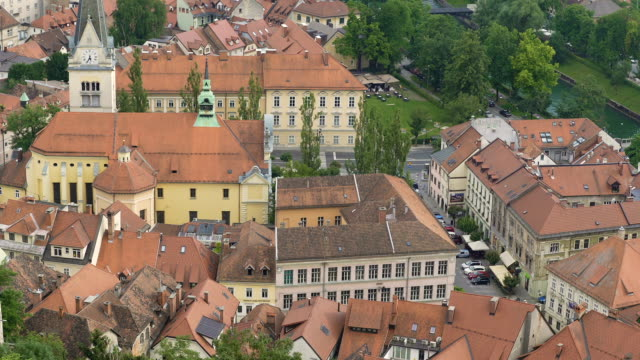 Saint James Parish Church in Ljubljana, Slovenian landmark, travel to Europe video
