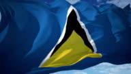 Saint Lucia Flag video