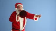 Saint Nicholas Shouting Via Old Fashioned Megaphone video