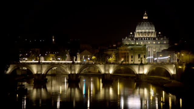 Saint Peter's Basilica church in Vatican City, papal enclave in Rome, timelapse video