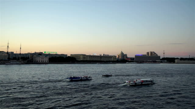 Saint Petersburg with the Neva River video
