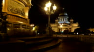 Saint-Petersburg, St. Isaac's Cathedral at night video