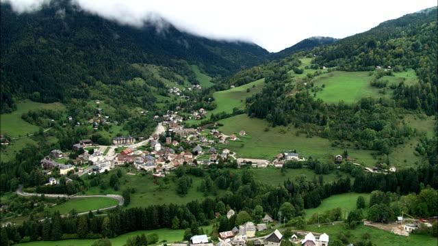 Saint-Pierre-De-Chartreuse - - Aerial View - Rhône-Alpes, Isère, Arrondissement de Grenoble, France video