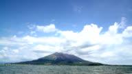 Sakurajima at Kagoshima prefecture in Japan video