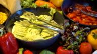 Salad buffet for breakfast video