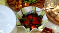 Salad of cucumbers and tomatoes video