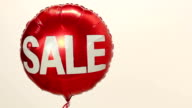Sale balloon - Side, with copy space video