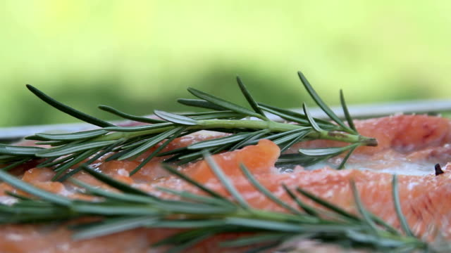 salmon and rosemary bbq video