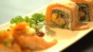 salmon burned cheese maki video