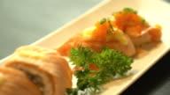 salmon burned maki video