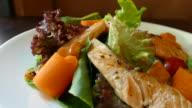 salmon caesar salad video