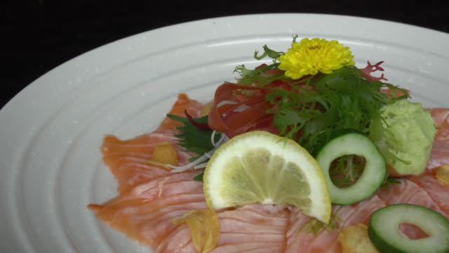 Salmon carpaccio video