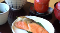 Salmon Grilled - japanese style food video