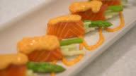 Salmon roll video