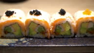 salmon roll video