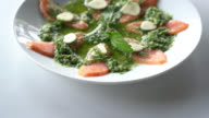 Salmon salad video