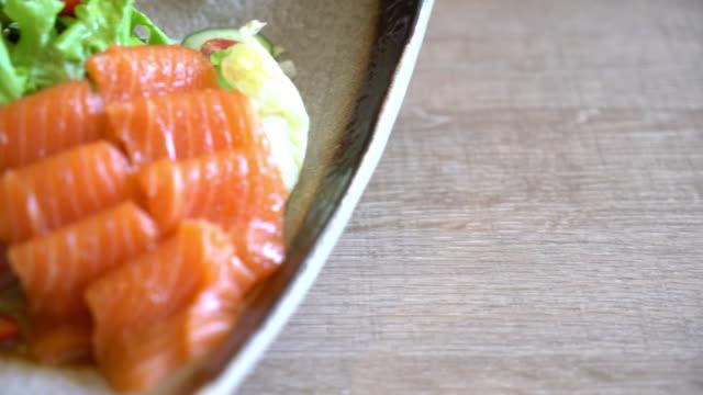 4K Salmon Salad video