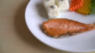 salmon steak - japanese food style video