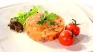 Salmon tartare video