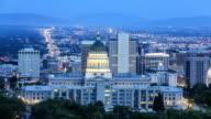 Salt Lake City at dusk video