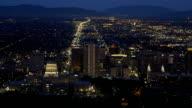 Salt Lake City skyline at dusk video