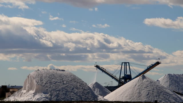 Salt mine industry, Salt production video