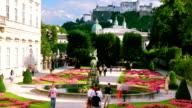 Salzburg aerial view., time lapse. video