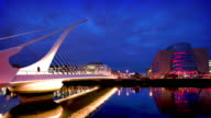 Samuel Beckett Bridge at Dusk, Dublin, Ireland video
