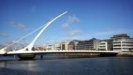 Samuel Beckett Bridge, Dublin, Ireland video