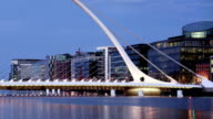 Samuel Beckett bridge in Dublin Ireland video
