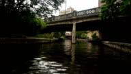 San Antonio River Flows Thru Texas City Downtown Riverwalk video