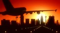 San Antonio Texas USA America Skyline Sunrise Landing video