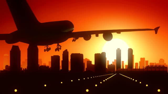San Diego California USA America Skyline Sunrise Landing video