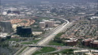 San Diego Freeway  - Aerial View - California,  Orange County,  United States video