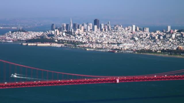 San Francisco and Golden Gate Bridge span video